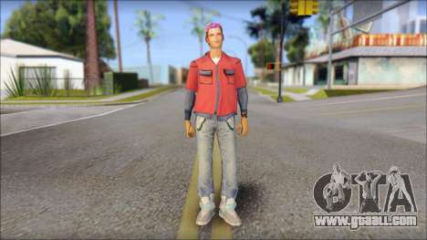 Marty from Back to the Future 2015 for GTA San Andreas