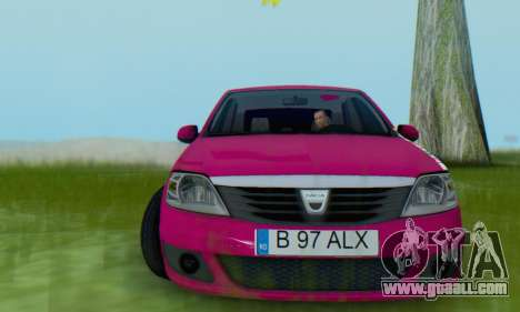 Dacia Logan 2013 for GTA San Andreas back view