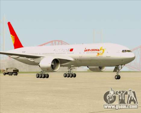 Boeing 777-200ER Air China for GTA San Andreas left view