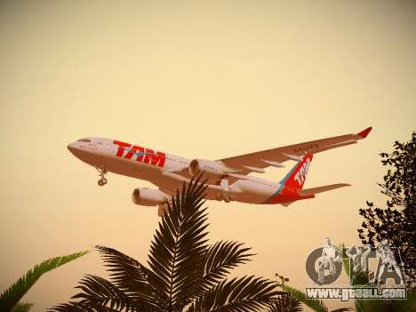 Airbus A330-200 TAM Airlines for GTA San Andreas bottom view