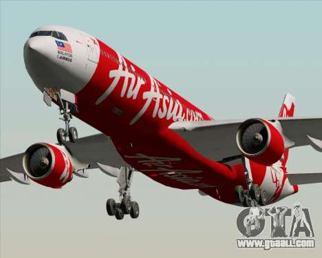 Airbus A330-300 Air Asia X for GTA San Andreas inner view