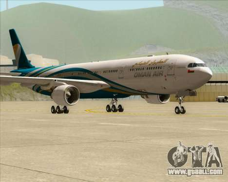Airbus A330-300 Oman Air for GTA San Andreas left view