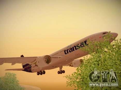 Airbus A330-200 Air Transat for GTA San Andreas bottom view