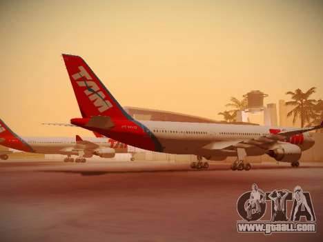 Airbus A330-200 TAM Airlines for GTA San Andreas back left view