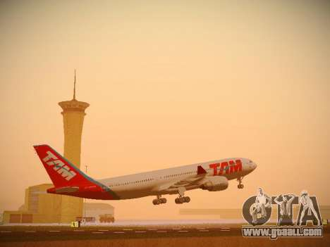 Airbus A330-200 TAM Airlines for GTA San Andreas left view