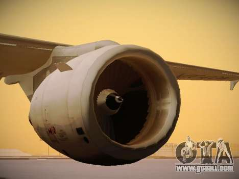 Airbus A320-214 LAN Airlines 80 Years for GTA San Andreas bottom view