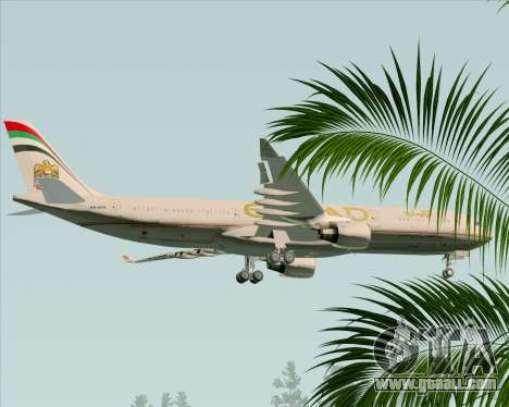 Airbus A330-300 Etihad Airways for GTA San Andreas upper view