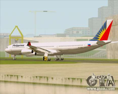 Airbus A340-313 Philippine Airlines for GTA San Andreas right view