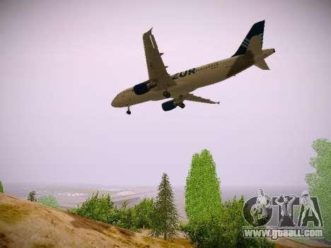 Airbus A320-211 Aigle Azur for GTA San Andreas inner view