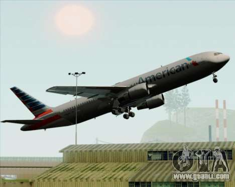 Boeing 767-323ER American Airlines for GTA San Andreas wheels