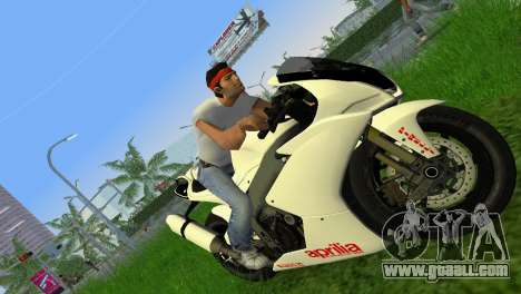 Aprilia RSV4 2009 White Edition II for GTA Vice City