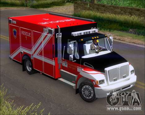 Pierce Commercial TFD Rescue 1 for GTA San Andreas left view