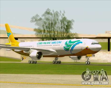 Airbus A330-300 Cebu Pacific Air for GTA San Andreas back left view