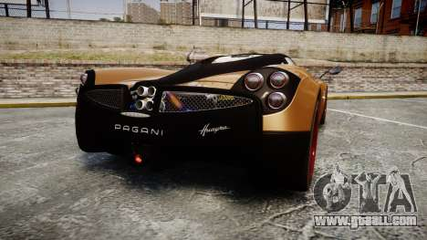 Pagani Huayra 2013 for GTA 4 back left view