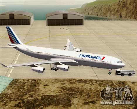 Airbus A340-313 Air France (New Livery) for GTA San Andreas bottom view