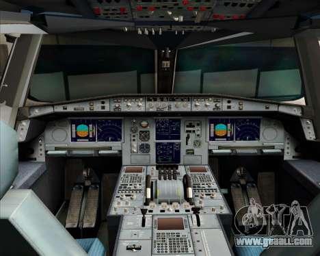 Airbus A380-841 Qantas for GTA San Andreas upper view