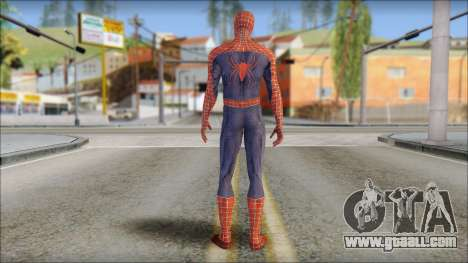 Red Trilogy Spider Man for GTA San Andreas second screenshot