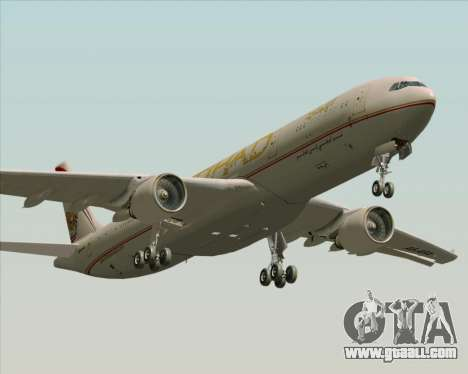 Airbus A330-300 Etihad Airways for GTA San Andreas bottom view
