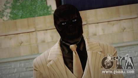 Black Mask for GTA San Andreas third screenshot