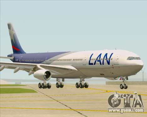 Airbus A340-313 LAN Airlines for GTA San Andreas left view