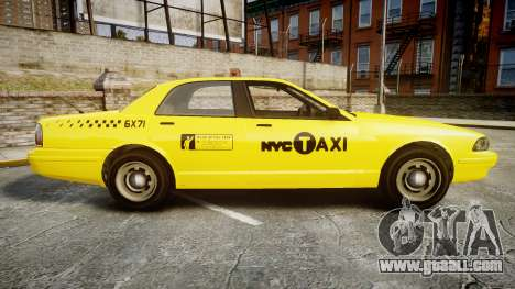 GTA V Vapid Taxi NYC for GTA 4 left view