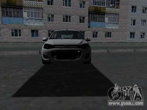 Lada Kalina 2 for GTA San Andreas inner view