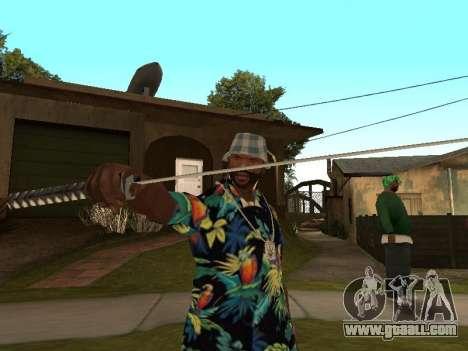 Pose gangster for GTA San Andreas second screenshot