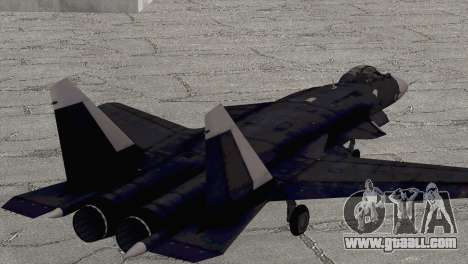 Sukhoi SU-47 Berkut from H.A.W.X. 2 for GTA San Andreas left view