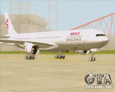 Airbus A330-300 Dragonair for GTA San Andreas upper view