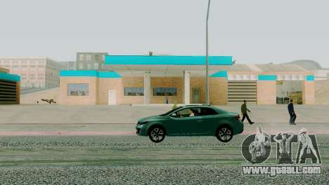 New textures garage in San Fierro for GTA San Andreas third screenshot