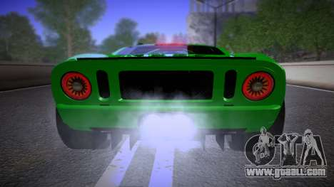 Ford GT 2005 Road version for GTA San Andreas inner view