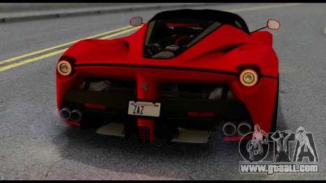 Ferrari LaFerrari 2014 (IVF) for GTA San Andreas side view