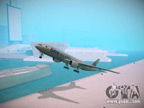 Boeing 777-223ER American Silver Bullet for GTA San Andreas
