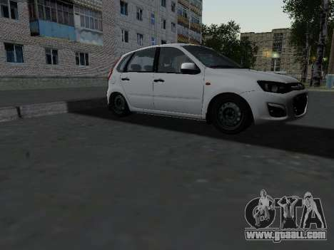 Lada Kalina 2 for GTA San Andreas back view