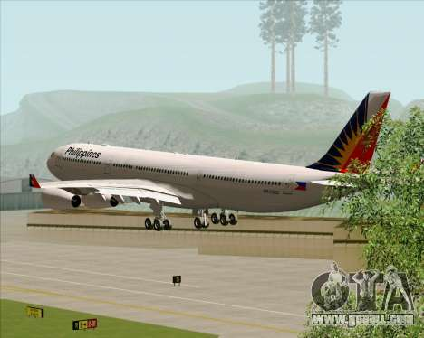 Airbus A340-313 Philippine Airlines for GTA San Andreas side view