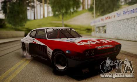 Ford Capri RS Cosworth 1974 Skinpack 3 for GTA San Andreas