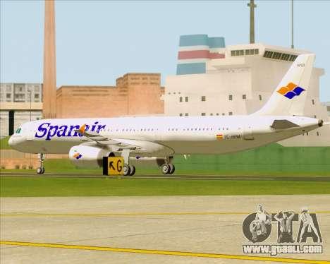 Airbus A321-231 Spanair for GTA San Andreas inner view