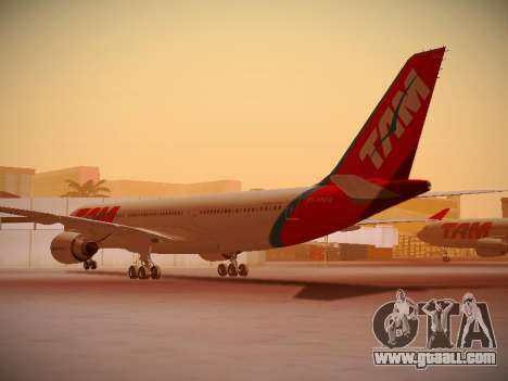 Airbus A330-200 TAM Airlines for GTA San Andreas right view