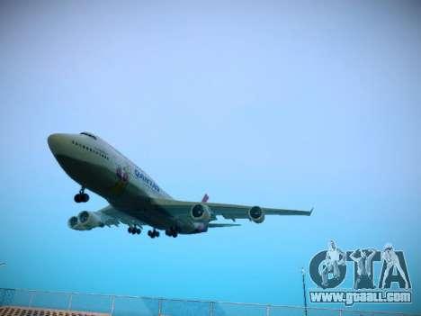 Boeing 747-438 Qantas Boxing Kangaroo for GTA San Andreas left view