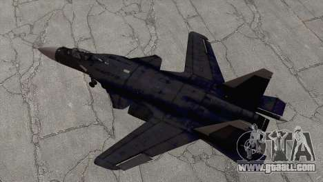 Sukhoi SU-47 Berkut from H.A.W.X. 2 for GTA San Andreas back left view