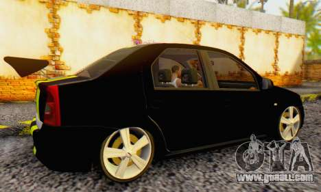 Dacia Logan Black Style for GTA San Andreas right view