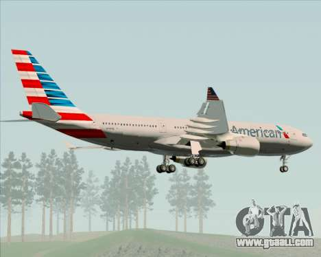 Airbus A330-200 American Airlines for GTA San Andreas side view