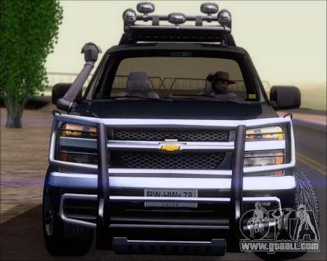 Chevrolet Colorado for GTA San Andreas interior