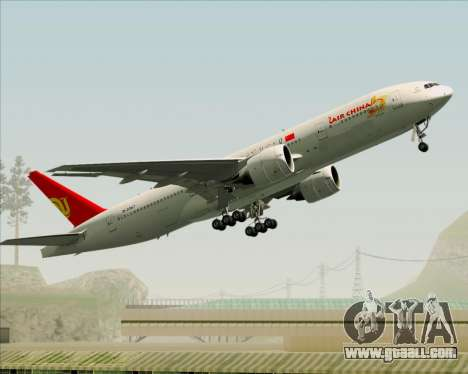 Boeing 777-200ER Air China for GTA San Andreas side view