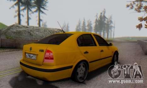 Skoda Octavia for GTA San Andreas back left view