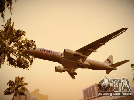 Boeing 777-223ER American Silver Bullet for GTA San Andreas bottom view