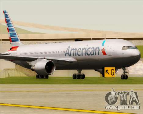 Boeing 767-323ER American Airlines for GTA San Andreas left view