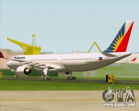 Airbus A330-300 Philippine Airlines for GTA San Andreas right view