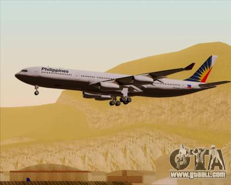 Airbus A340-313 Philippine Airlines for GTA San Andreas bottom view