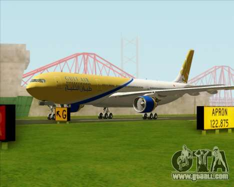 Airbus A330-300 Gulf Air for GTA San Andreas left view